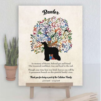 Afghan Greyhound, Family Tree, Dog Memorial, Poem, Personalized, Plaque, Sympathy Gift, Pet Loss Gift, Art Print #1007