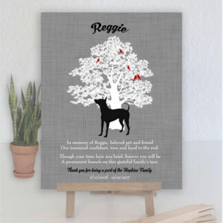 American Hairless Terrier Dog, Family Tree, Dog Memorial, Poem, Personalized, Plaque, Sympathy Gift, Condolence, Pet Loss Gift Print #1012