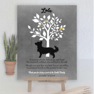 Australian Terrier Dog, Family Tree, Dog Memorial, Poem, Personalized, Plaque, Sympathy Gift, Condolence, Pet Loss Gift, Art Print #1014