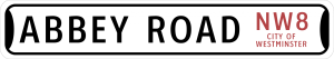 Abbey Road NW8 Westminster Novelty Metal Street Sign – Personalized for Cesar