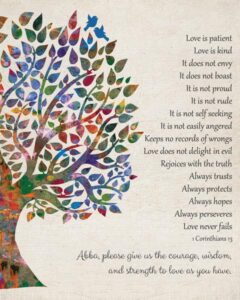 Canvas Love Is Patient 1 Corinthians 13 Vintage Watercolor Gift Personalized For Craig