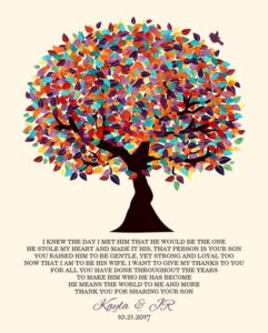 I Knew The Day Oak Fruit Tree Wedding Poem Thank You Gift Personalized For Kayla