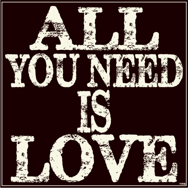 All You Need Is Love Typography Subway Vintage Metal Art Sign – Personalized for Michelle