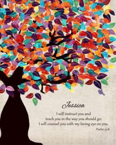 Teacher Professor Gift Watercolor Tree of Life – Personalized for Angela