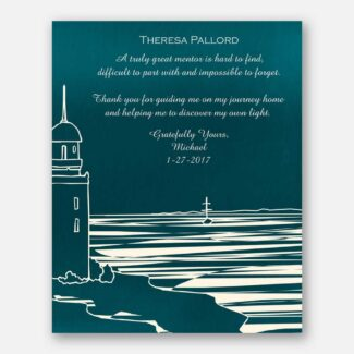 Personalized Mentor Gift, Lighthouse and Shore, Symbolize Safety, Thank You Gift, Best Gift For Your Mentor Who Moulded Your Life, 1005