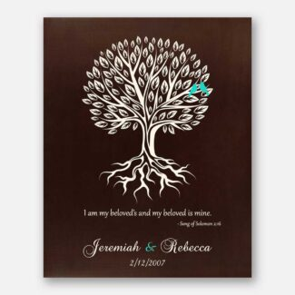 Wedding Gift, Anniversary Gift, Personalized Gift, Handcrafted Wedding Gift With A Heartfelt Message, Date & Personalized Names, 1015