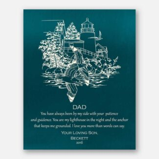 A Gift For Father, Thank You Gift, A Lighthouse In Night, Gift From Son, Personalized Gift With Heartfelt Message From Son To Dad, 1022