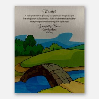 Personalized Gift For Mentor, Bridge The Gap, Gift For Boss, Personalized Handcrafted Gift With A Thank You Message To Mentor, 1025