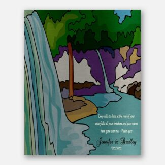 Anniversary Gift For Spouse, Personalized Gift For Anniversary, Personalized Plaque, Deep Calls To Deep At The Roar Of Your Waterfall, 1026