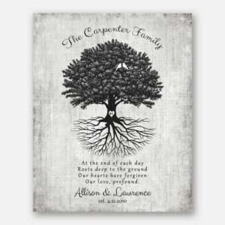 Handcrafted Anniversary Gift, Uprooted Tree & Two Birds Best Couple Gift With A Heartfelt Message For Your Anniversary Celebration, 1065