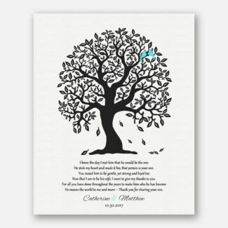 Personalized Gift For Mother Of Groom, A Handmade Gift From Bride To Parents Of Groom, Heartfelt Poem Showing Inner Emotions Of Bride, 1078