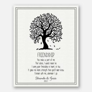Personalized Friendship Gift, Handcrafted Gift For Friend, Thank You Gift With A Heartfelt Message For Your Best Friend Forever, 1088