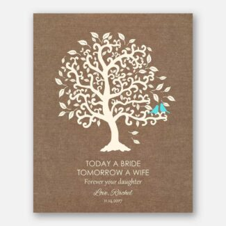 Today A Bride, Tomorrow A Wife, Forever Your Daughter, Personalized Gift From Bride To Mom & Dad, Thank You Gift For Parents, 1095