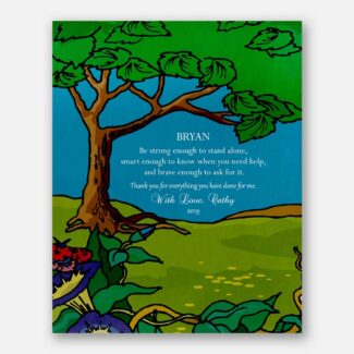 Gift For Mother, Gift For Father, Gift For Mentor, Leader Gift, Green Landscape Gift, Personalized Thank You Gift, Gift For Teachers, 1807