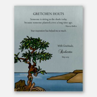 Gift For Teacher, Personalized Gift For Mentor, Leader Gift, Thank You Boss Gift, Warren Buffett Quote, Sea, Tree, Gift For Inspiration 1812