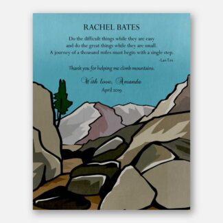 Personalized Gift For Teacher, Gift For Leader, Gift for Mentor, High Mountains, Thank You Gift Boss, Retirement Gift, Lao Tzu Quote, 1813