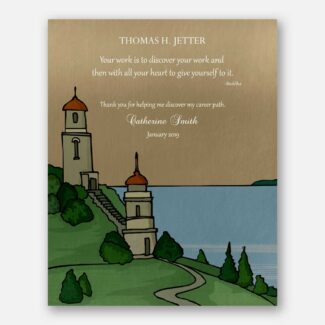 Thank You Gift For Mentor, Personalized Gift For Teacher, Boss Gift, Leader Gift, Separation Gift, Buddha Quote, Two Lighthouse Gift, 1818