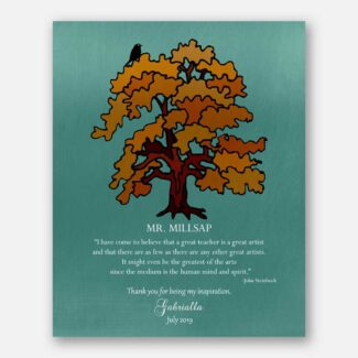 Teacher Thank You Gift, Personalized Gift For Mentor, Boss Gift, Gift For Leader, Handcrafted Gift, Orange Tree, John Steinbeck Quote, 1819