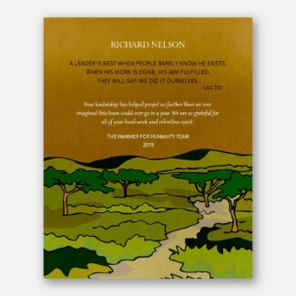 Gift For Leader, Teacher Gift, Personalized Mentor Gift, Gift From Mentee, Boss Gift, Forest, Hills, Lao Tzu Quote, Good Spirit Gift, 1838
