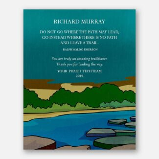 Gift For A Leader, Personalised Mentor Gift, Thank You Gift, River, Forest, William Butler Yeats Quote, Teacher Gift, Gift From Mentee, 1842