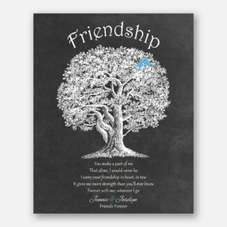 Friendship Best Friends Poem You Make A Part of Me Friends Forever on Dark Background #CWA-1225