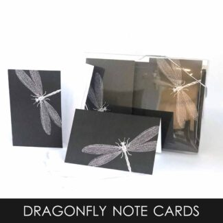 Note Cards | Dragonfly on Black