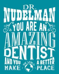 Dentist Gift For Orthodontist Custom Typography Tin Sign Amazing Dentist or Orthodontist – Personalized for Erin