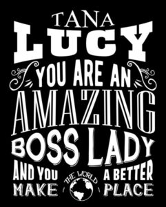 Holiday Gift For Lady Boss Custom Tin Sign Amazing Boss Lady Personalized Plaque – For Heather