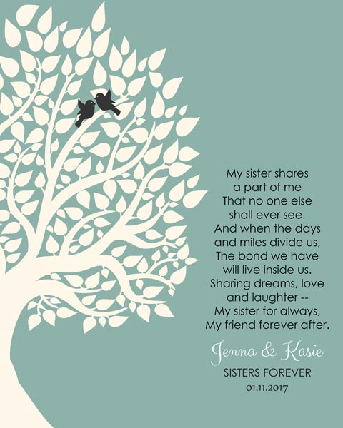 Sister Gift Wedding Canvas – Personalized for Jenna