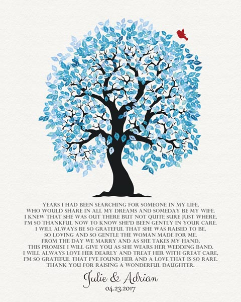 Wedding Tree Bride's Mother Years I Had Been Searching Gift – Personalized For Julie