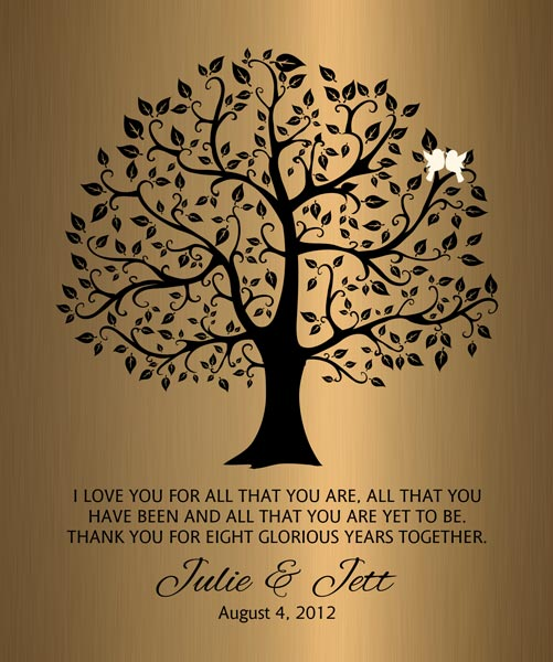 Personalized 8 Year Anniversary Gift Custom Art Proof for Julie W.