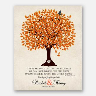 Thank You Gift For Parents Two Lasting Bequests Personalized Gift For Mother of Groom or Bride Family Wedding Poem #LT-1101