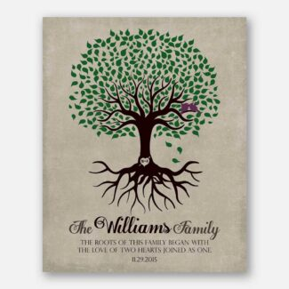 Personalized Family Tree Roots of This Family Began Anniversary Gift For Couple Gift For Husband or Wife #LT-1109