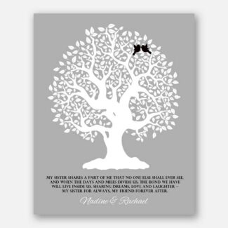 Gift For Sister Family Tree Sister Shares A P of Me Personalized Gift For Sister From Sisteror Sister-In-Law Wedding Poem Tree #LT-1121