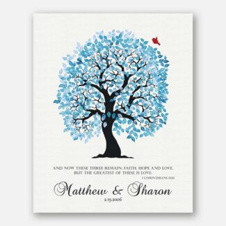 1 Corinthians 13:13 Personalized Blue And