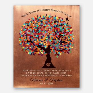 Think Positive Best Thing That's Ever Happened To Me Faux Copper 7 Year Anniversary Gift 1345