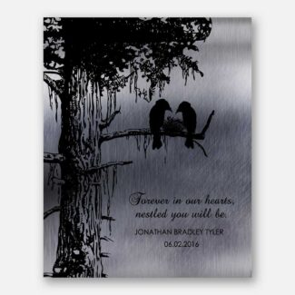 Sympathy Gift of Condolence Memorial Loss of Baby Child Stillborn Nestled in Our Hearts Personalized #1355