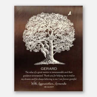 Gift For Mentor Large Oak Tree The Value of A Great Mentor Unsurpassed 1397