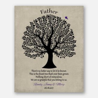 Personalized Gift For Dad Father's Day Poem From Daughter or Son Birthday Gift For Pop Daddy #1463