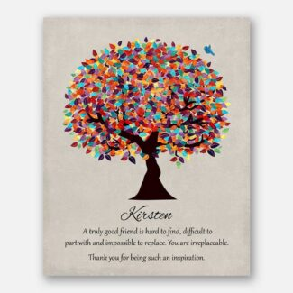 Personalized   Gift For Mentor   Friendship Gift   Colorful Tree   Moving Gift Going Away Retirement Teacher Colleague #1492