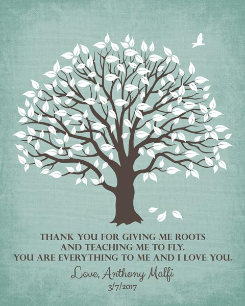 Children To Parents Thank You For Giving Me Roots And Wings To Fly – Personalized For Michael