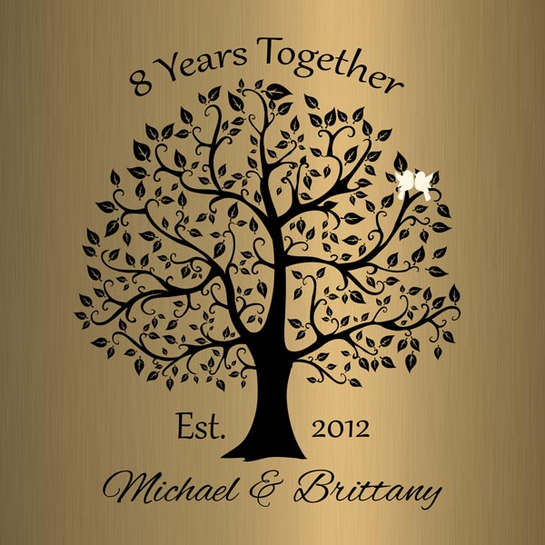 Personalized 8 Year Anniversary Gift Custom Art Proof for Michael G.