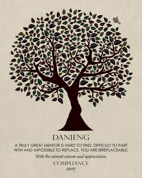 Mentor Gift for Colleague Tree of Life – Personalized for Sandy