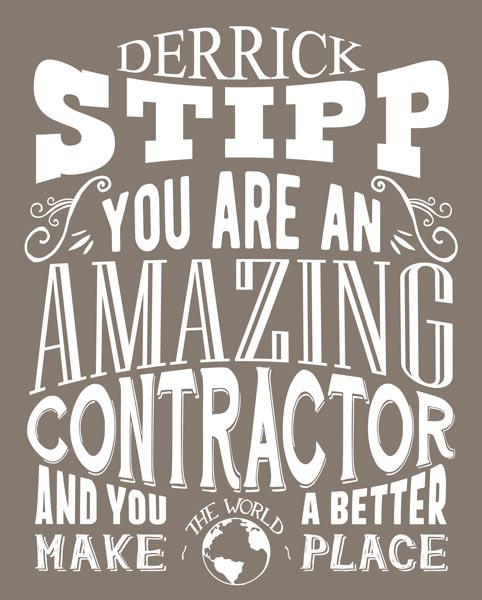 Gift For General Contractor   Custom Tin Sign – Personalized for Suzanne