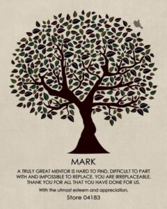 Appreciating Others Mentor Boss Colleague Principal Coworker Professor Confidant Tree Of Life Gift – Personalized By Taelor