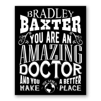 Doctor Amazing Custom Plaque Tin Sign Gift For Physician Pediatrician Orthopedic Medicine Typography Personalized Metal Art Print #1168
