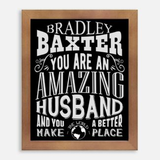 Husband Amazing Custom Gift For Men From Wife Wedding Anniversary Valentine Typography Personalized #1185