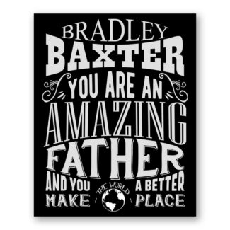 Father Amazing Custom Plaque Tin Sign Gift For Dad Father From Wife Sister Mother or Kids Father's Day Personalized Metal Art Print #1186