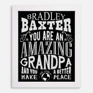 Grandpa Amazing Custom Gift For Father From Daughter or Son Grandchildren Typography Personalized #1188