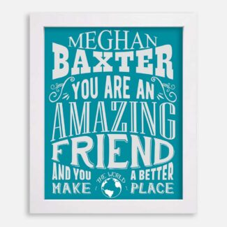 Friend Amazing Custom Gift For Best Friend Friendship Bestie Thank You Typography Personalized #1190